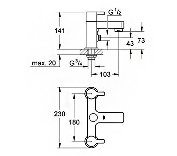 Technical drawing QS-V58310 / 25113000