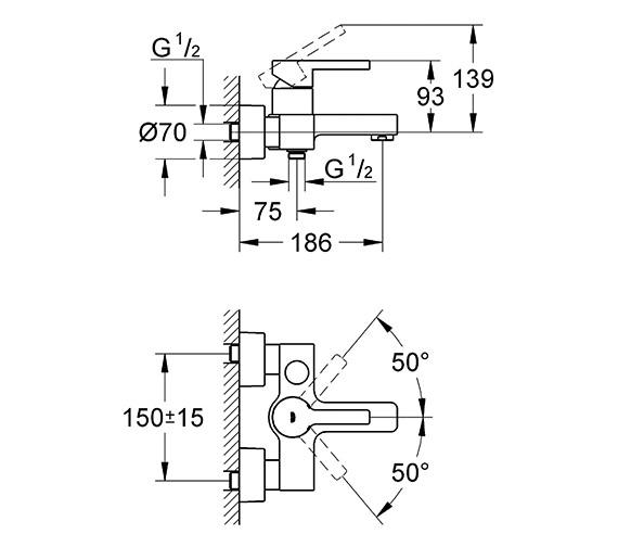 Technical drawing QS-V58311 / 33849000