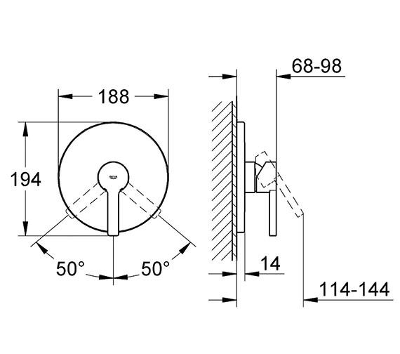 Technical drawing QS-V58313 / 19296001