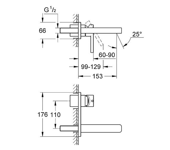 Technical drawing QS-V58314 / 19409000