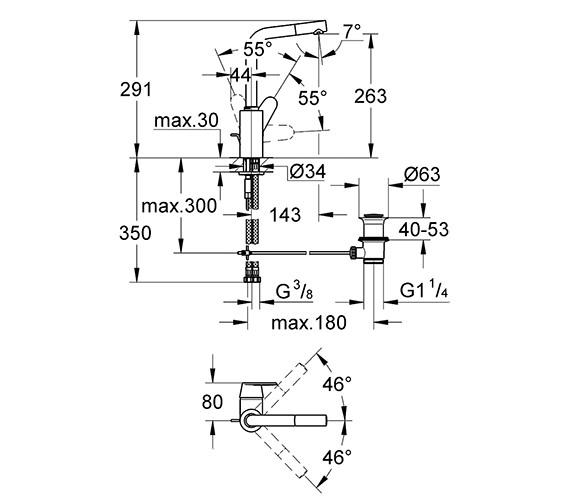 Technical drawing QS-V58316 / 23054002