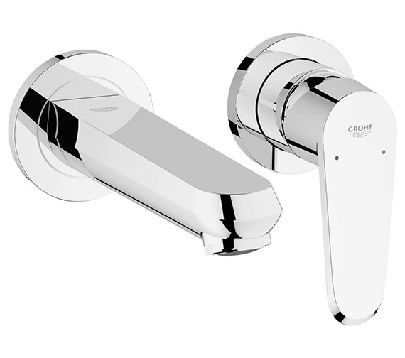 Grohe Eurodisc Cosmo Two Hole Wall Mounted Basin Mixer Tap - 19573002