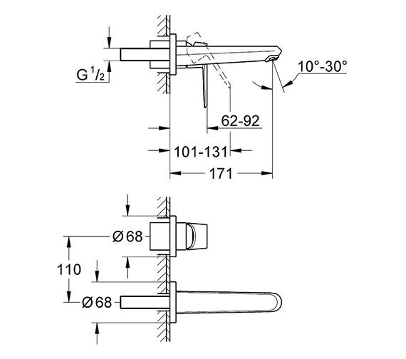 Technical drawing QS-V58317 / 19573002