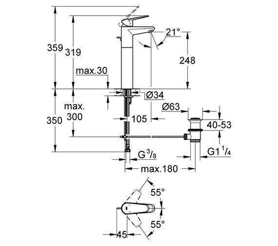Technical drawing QS-V58319 / 23055002