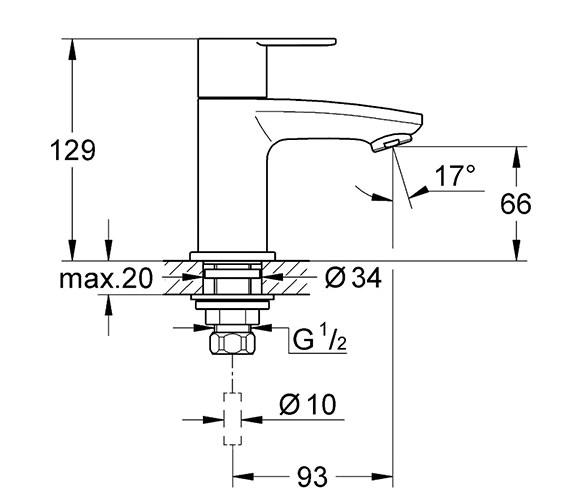 Technical drawing QS-V58347 / 23039002