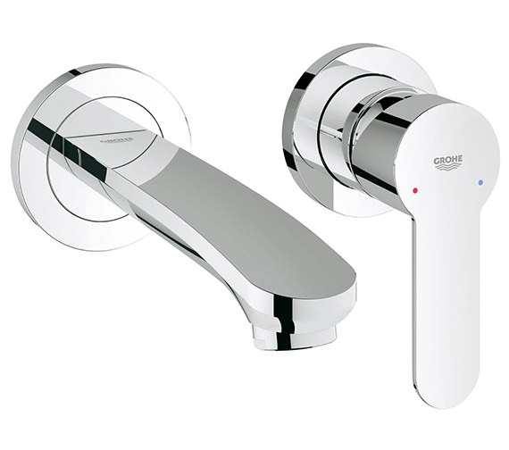 Grohe Eurostyle Cosmo Two Hole Wall Mounted Basin Mixer Tap