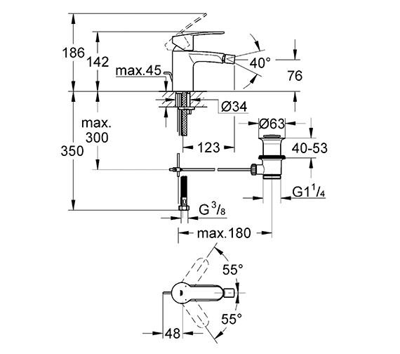 Technical drawing QS-V58351 / 33565002