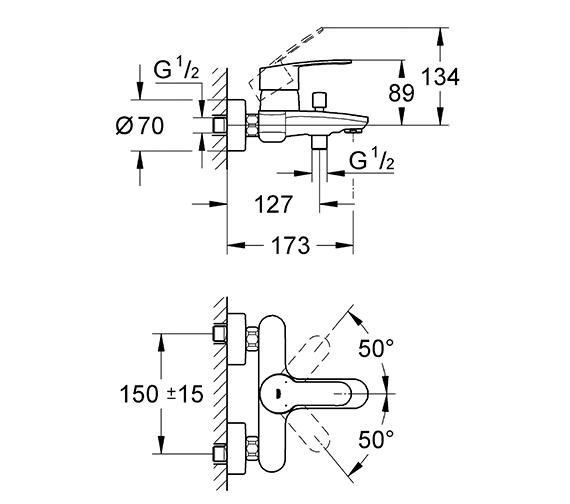 Technical drawing QS-V58354 / 33591002