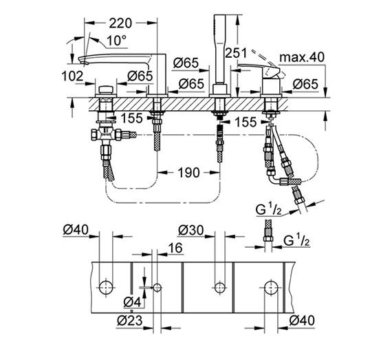 Technical drawing QS-V58355 / 23048002