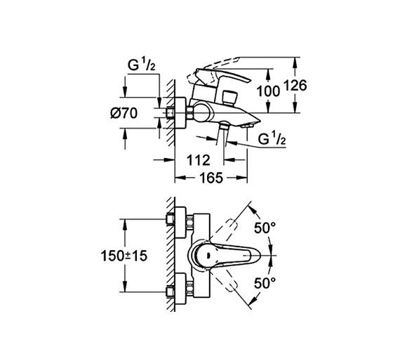 Technical drawing QS-V58365 / 33591001