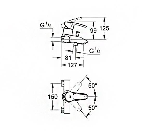 Technical drawing QS-V58366 / 33613001
