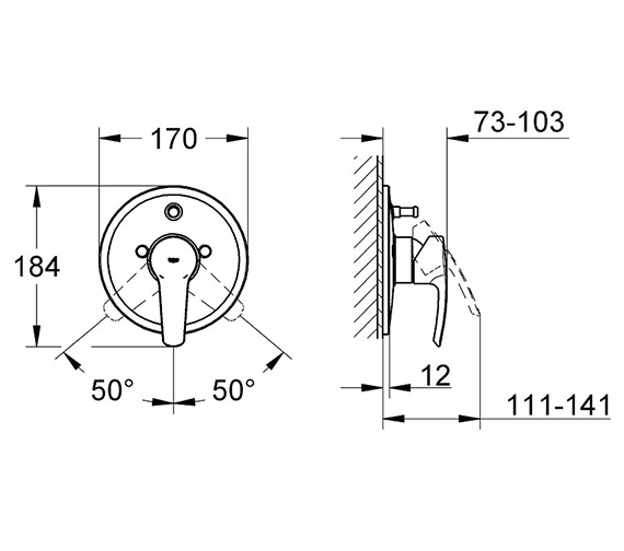 Additional image of Grohe Eurostyle Single Lever Shower Valve - With Or Without Diverter