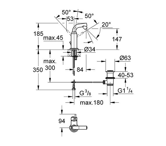 Technical drawing QS-V58372 / 32134001