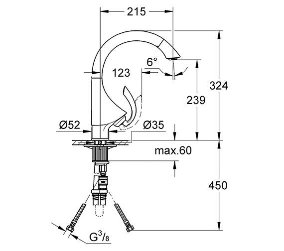 Technical drawing QS-V58376 / 33786000