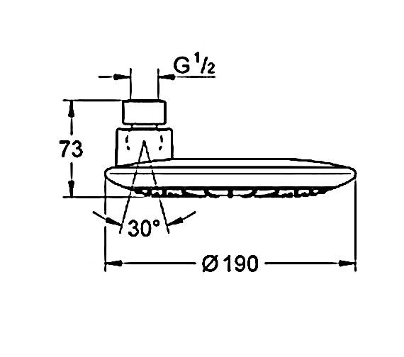 Technical drawing QS-V58395 / 27373000