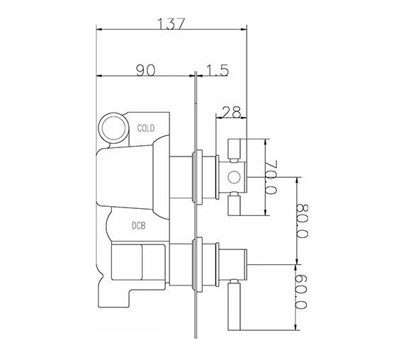 Technical drawing QS-V58428 / A3003V