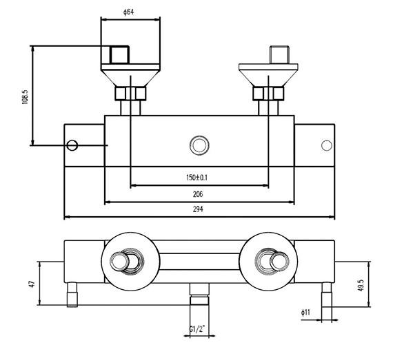 Technical drawing QS-V58463 / A3500