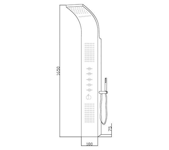 Technical drawing QS-V58486 / AS315
