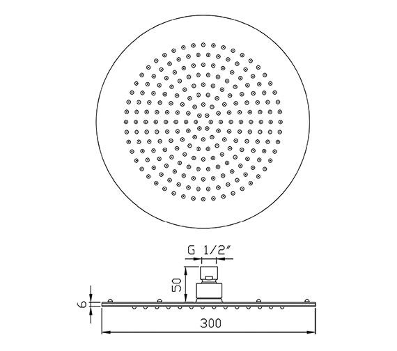 Technical drawing QS-V58504 / HEAD26