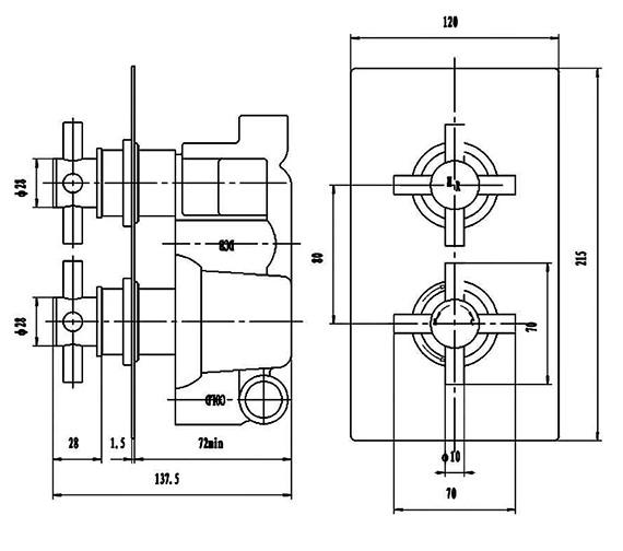 Technical drawing QS-V58518 / KRI3207