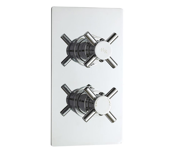 Hudson Reed Kristal Twin Concealed Thermostatic Shower Valve - KRI3210