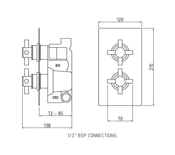 Technical drawing QS-V58519 / KRI3210