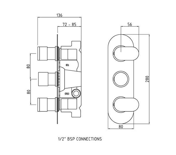 Technical drawing QS-V58529 / REI3411