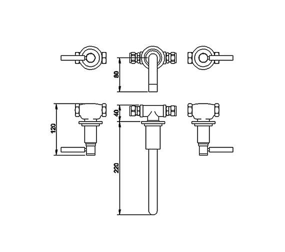 Technical drawing QS-V58541 / TEL317