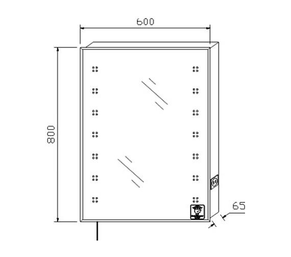 Technical drawing QS-V58562 / LQ365