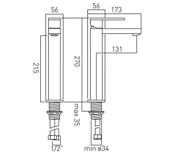 Technical drawing QS-V58605 / NOT-100E/SB-C/P