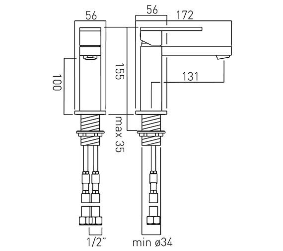 Technical drawing QS-V58607 / NOT-100/SB-C/P