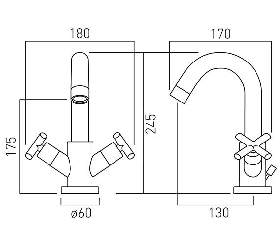 Technical drawing QS-V58657 / ELW-100-C/P