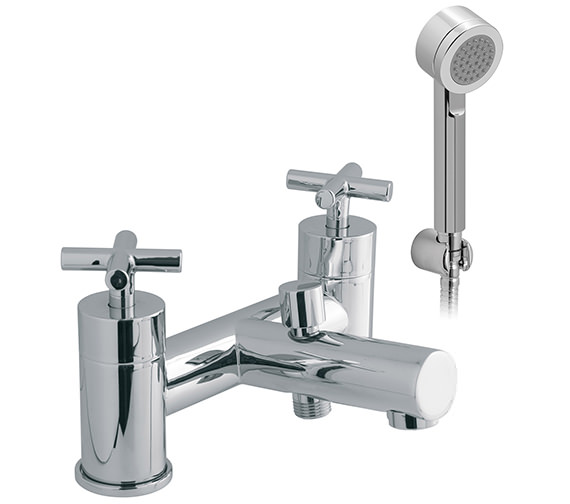 Vado Elements Water 2 Hole Bath Shower Mixer Tap With Shower Kit