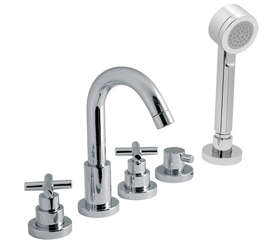 Vado Elements Water 5 Hole Bath Shower Mixer Tap - ELW-135-3-4