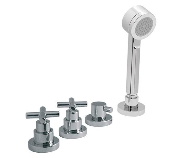 Vado Elements Water 4 Hole Bath Shower Mixer Without Spout - ELW-135-NS