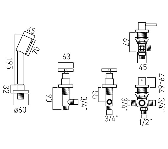 Technical drawing QS-V58669 / ELW-135/NS-3/4-C/P