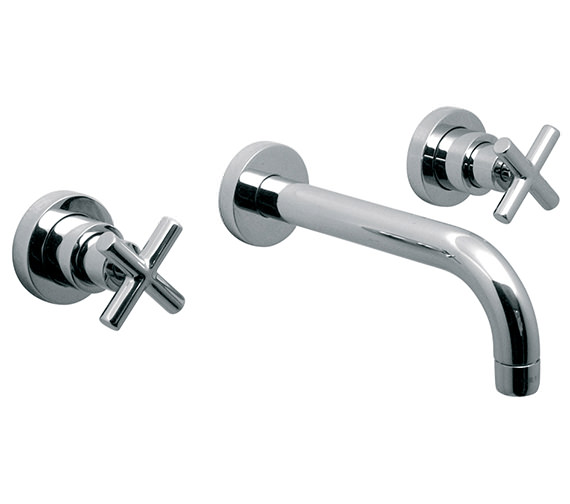 Vado Elements Water 3 Hole Bath Filler Tap With 200mm Long Spout