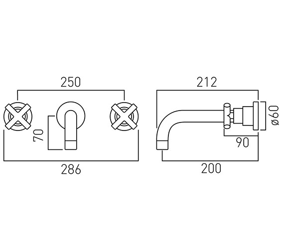 Technical drawing QS-V58672 / ELW-126L-3/4-C/P