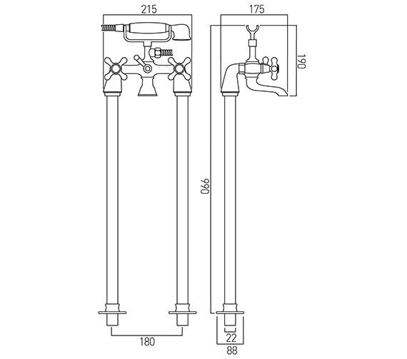 Technical drawing QS-V58699 / VIC-133/CD+K-C/P