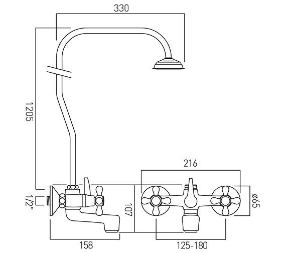 Technical drawing QS-V58701 / VIC-121/R/CD-C/P