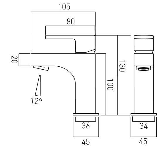 Technical drawing QS-V58704 / LIF-100M/SB-C/P