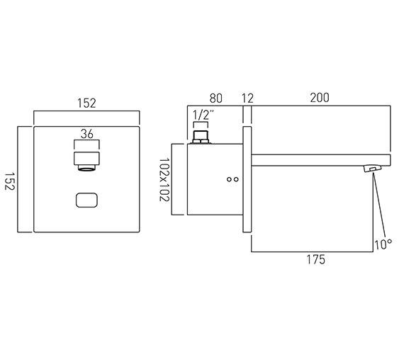 Technical drawing QS-V58771 / IR-109/NOT-C/P