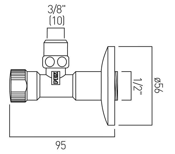 Technical drawing QS-V58810 / PEX-228A-C/P