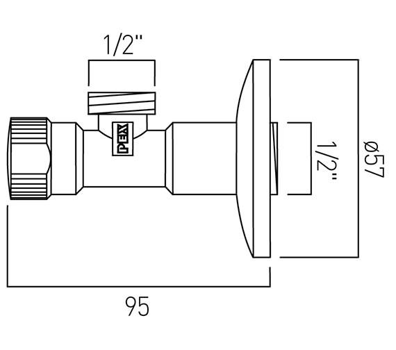 Technical drawing QS-V58811 / PEX-225A-C/P