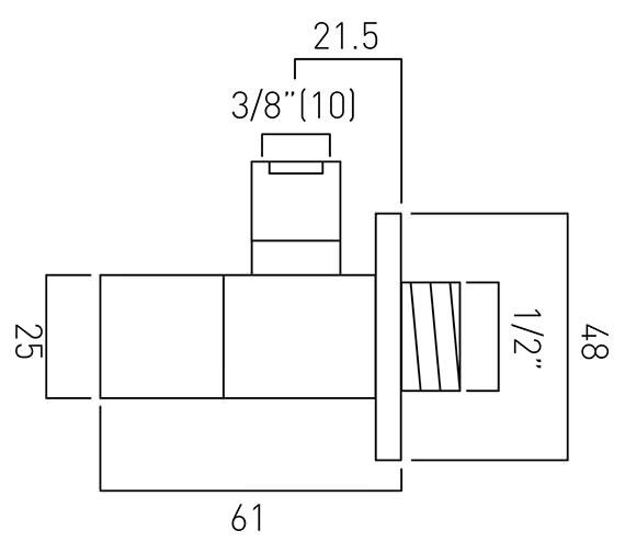 Technical drawing QS-V58813 / PEX-232-C/P