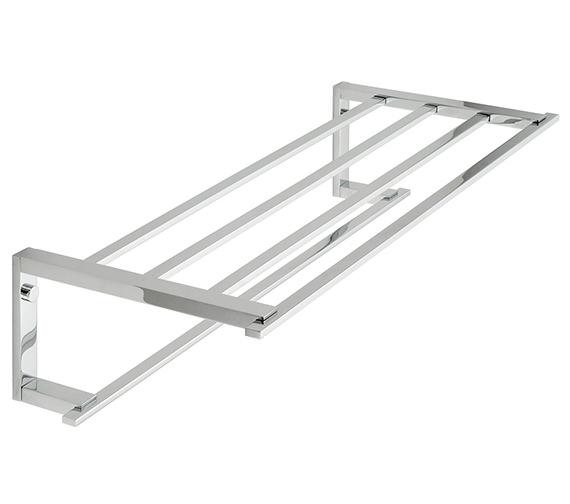 Vado Level Towel Shelf With Towel Rail - LEV-185B