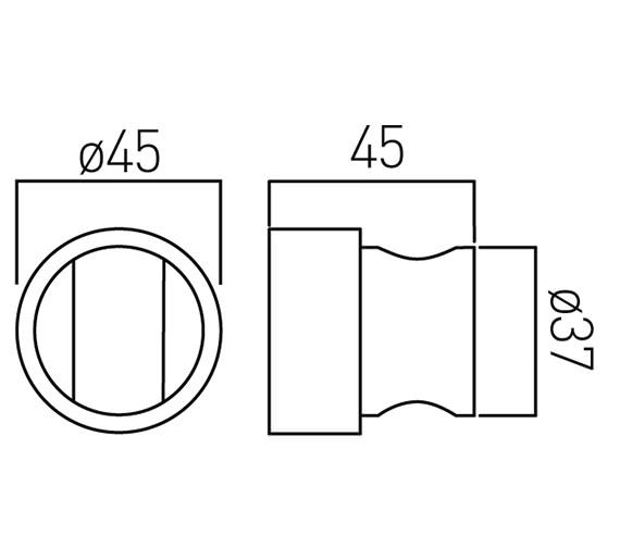 Technical drawing QS-V58964 / ZOO-BRACKET-C/P