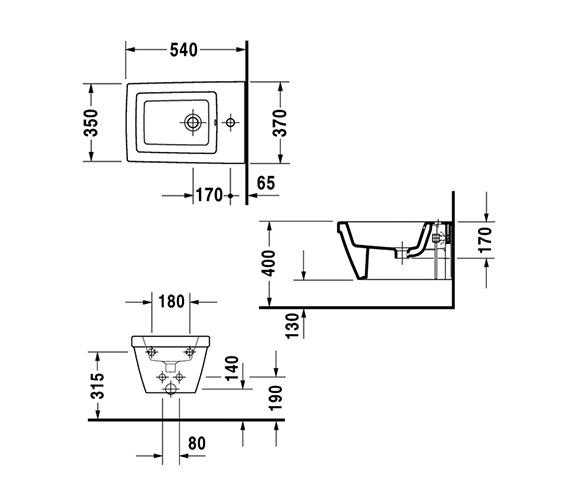 Technical drawing QS-V59007 / 2254150000