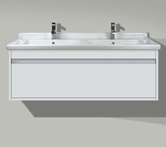 Duravit Ketho 1200mm 1 Drawer Unit With Starck 3 Double Basin