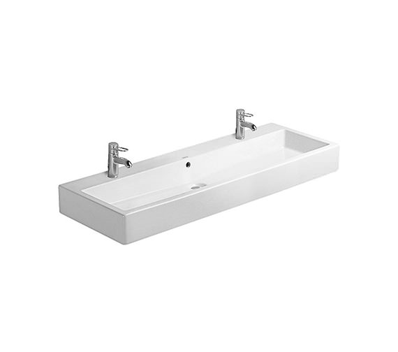 Duravit Vero White 1200 x 470mm 2 Tap Hole Washbasin - 0454120024